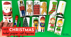 These free Christmas toilet paper roll figures are amazing for frugal holiday fun for kids. Get creative ideas for using & make this holiday season special.