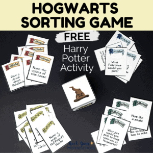 Have some fantastic Harry Potter fun with this free Hogwarts Sorting Game.