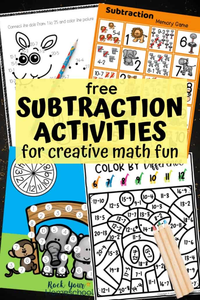 4 Creative Subtraction Activities to Make Math Fun