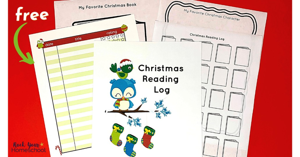 Make this holiday season extra special with this free Christmas reading log pack for kids.