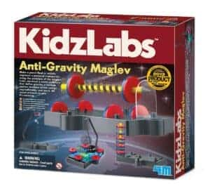 These science kits for kids (like this anti-gravity maglev kit) are amazing ways to boost learning fun.