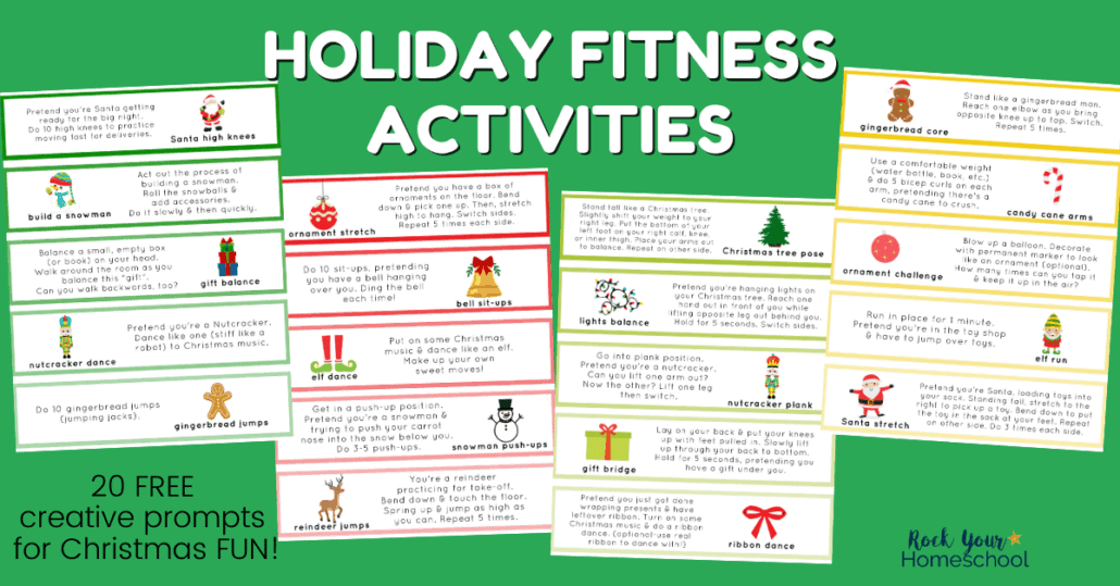 Your kids will have a blast with these 20 free Holiday Fitness Activities to make Christmas extra special.