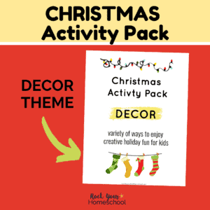 This Christmas Activity Pack featuring Decor theme is an awesome way to enjoy special holiday fun with kids.