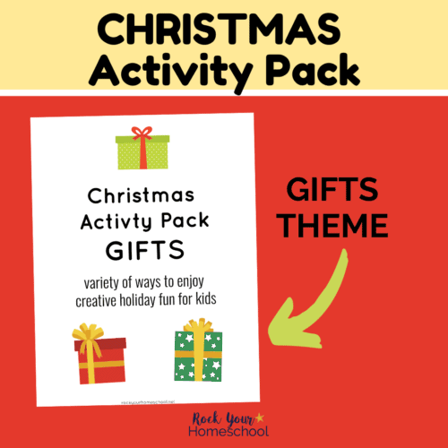 Enjoy holiday fun for kids with this Christmas Activity Pack featuring gifts.