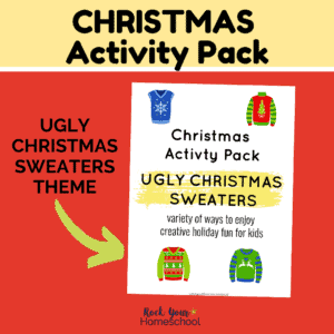 This Ugly Christmas Sweater activity pack is a super fun way to celebrate the holiday with kids.