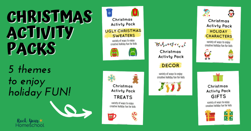 These Christmas Activity Packs with 5 cool themes are amazing ways to enjoy holiday fun for kids.