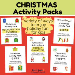 These 5 Christmas activity packs are fantastic ways to enjoy holiday fun for kids.