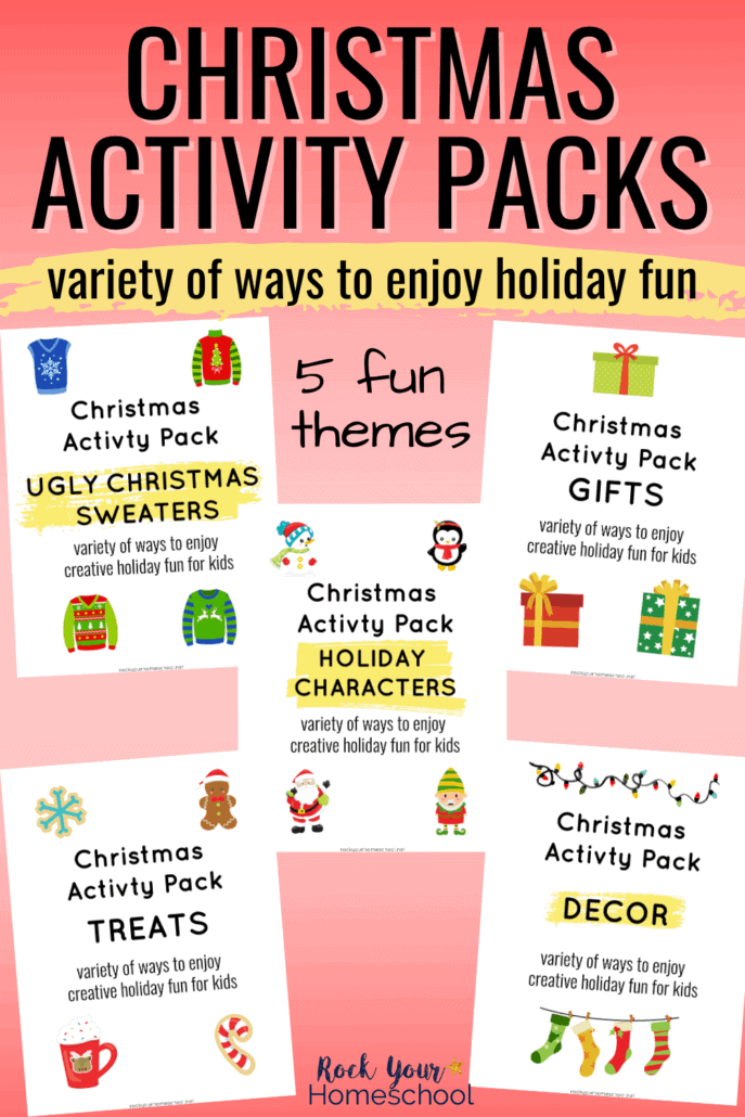 How to Enjoy Simple Holiday Fun for Kids with these Christmas Activity Packs