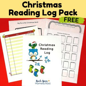 This free Christmas reading log pack is an excellent way to boost reading fun this holiday season.