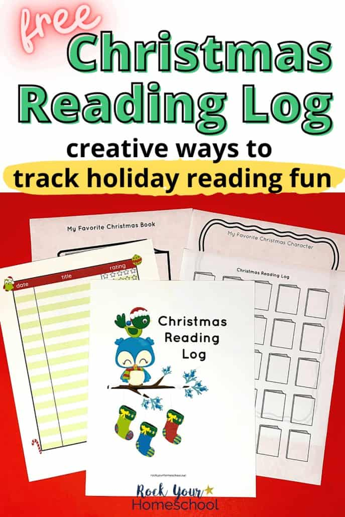 Free Christmas Reading Log Pack for Special Holiday Fun
