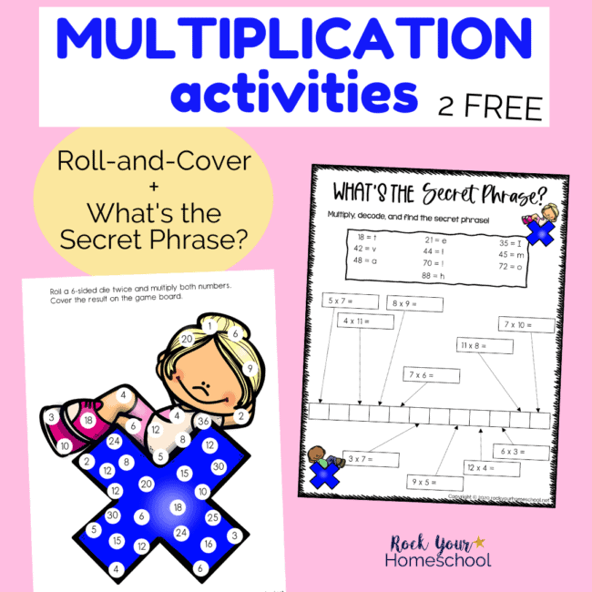 These 2 free multiplication activities are awesome ways to make math fun for kids.