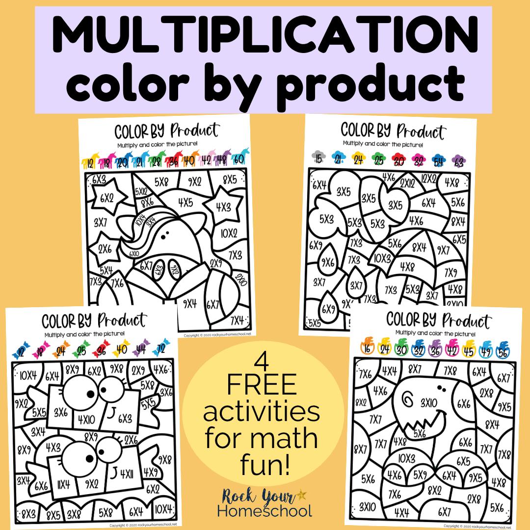 Multiplication Coloring Worksheets - Rock Your Homeschool
