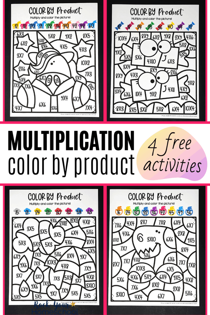 4 Free Multiplication Coloring Worksheets For Excellent Math Fun - Rock  Your Homeschool