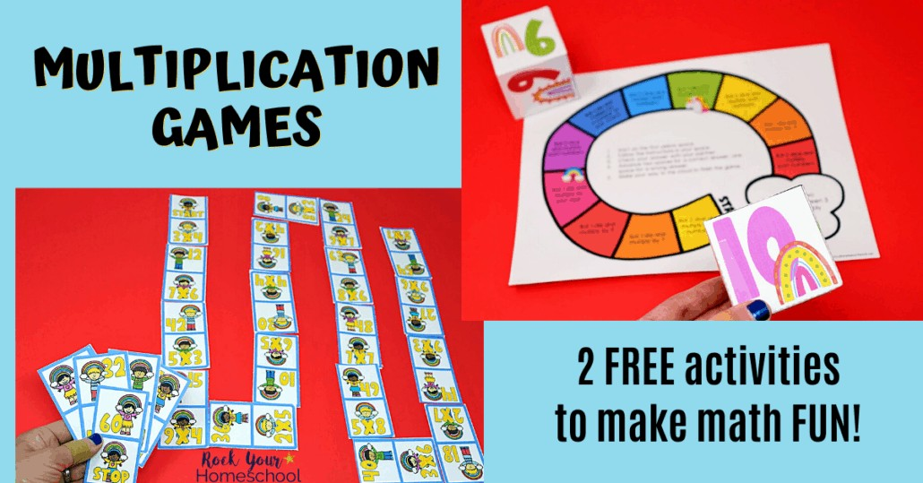 Make math time fun with these 2 free hands-on multiplication games.
