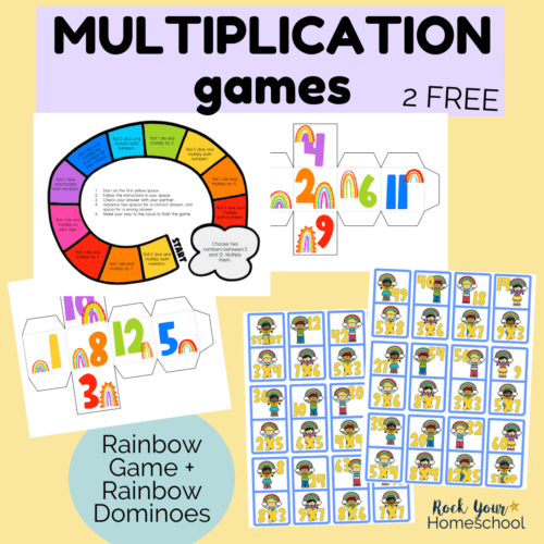 These 2 free multiplication games are super fun ways to make practicing math facts cool.