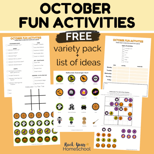Make this month extra special with this free October Fun Activities pack.