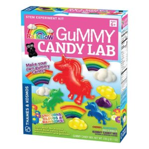 This Rainbow Gummy Candy Lab is such a fun science kit to enjoy with your kids.