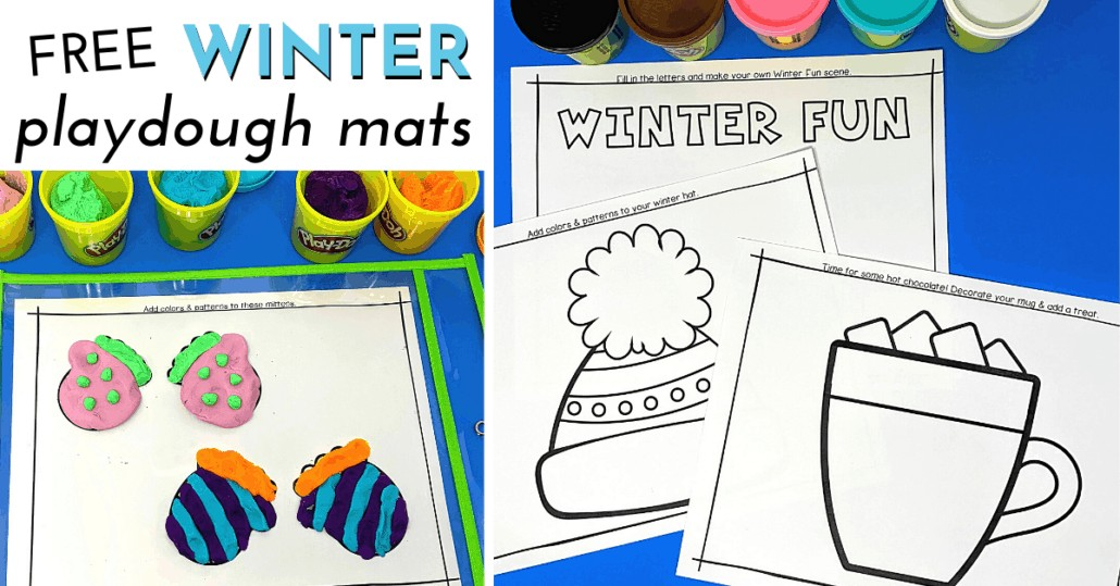 These 10 free Winter Playdough Mats are excellent activities for creative fun & more.