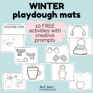 These 10 free winter playdough mats are fantastic ways to boost creativity & enjoy seasonal fun.