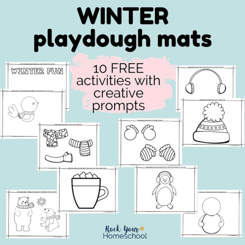 These 10 free winter playdough mats are fantastic ways to boost creativity & enjoy seasonal fun.