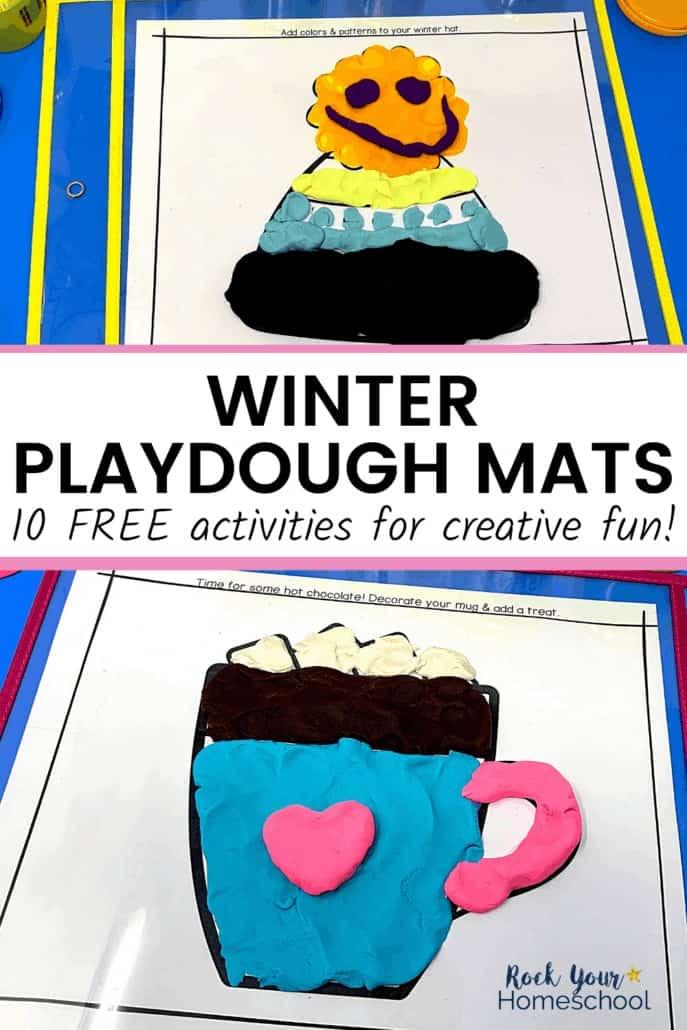Free Winter Playdough Mats for Creative Fun Activities