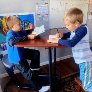 Your kids will love having a bike desk as a creative & fun homeschool tool.