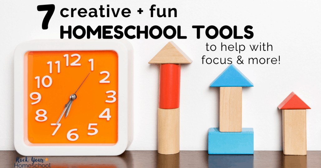 These 7 creative & fun homeschool tools will help you boost focus & more in your learn at-home adventures.