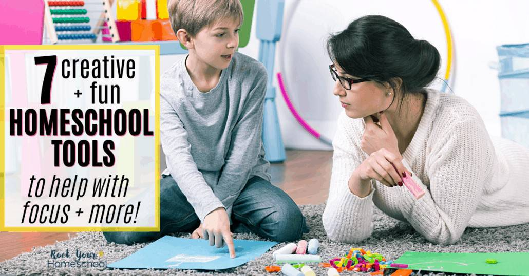 You can boost learning at home with these 7 creative & fun homeschool tools that help with focus, attention, & more.