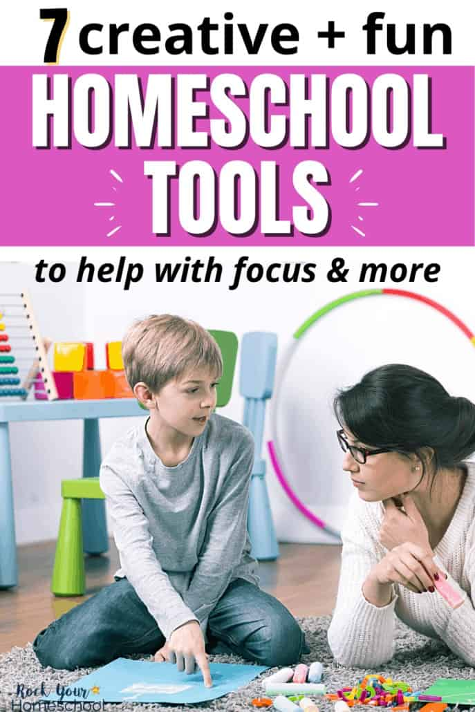 7 Creative & Fun Homeschool Tools to Help with Focus & More