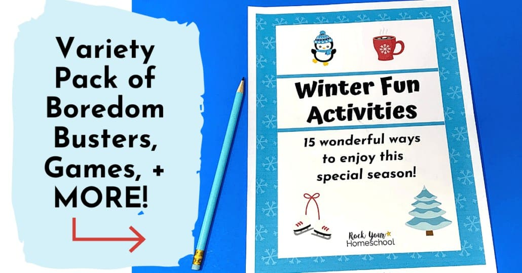 Enjoy Winter Fun Activities for kids! This variety pack includes games, boredom busters, & more!