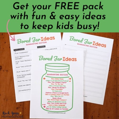 This free printable pack of bored jar ideas is a fantastic resource to keep your kids busy & happy.