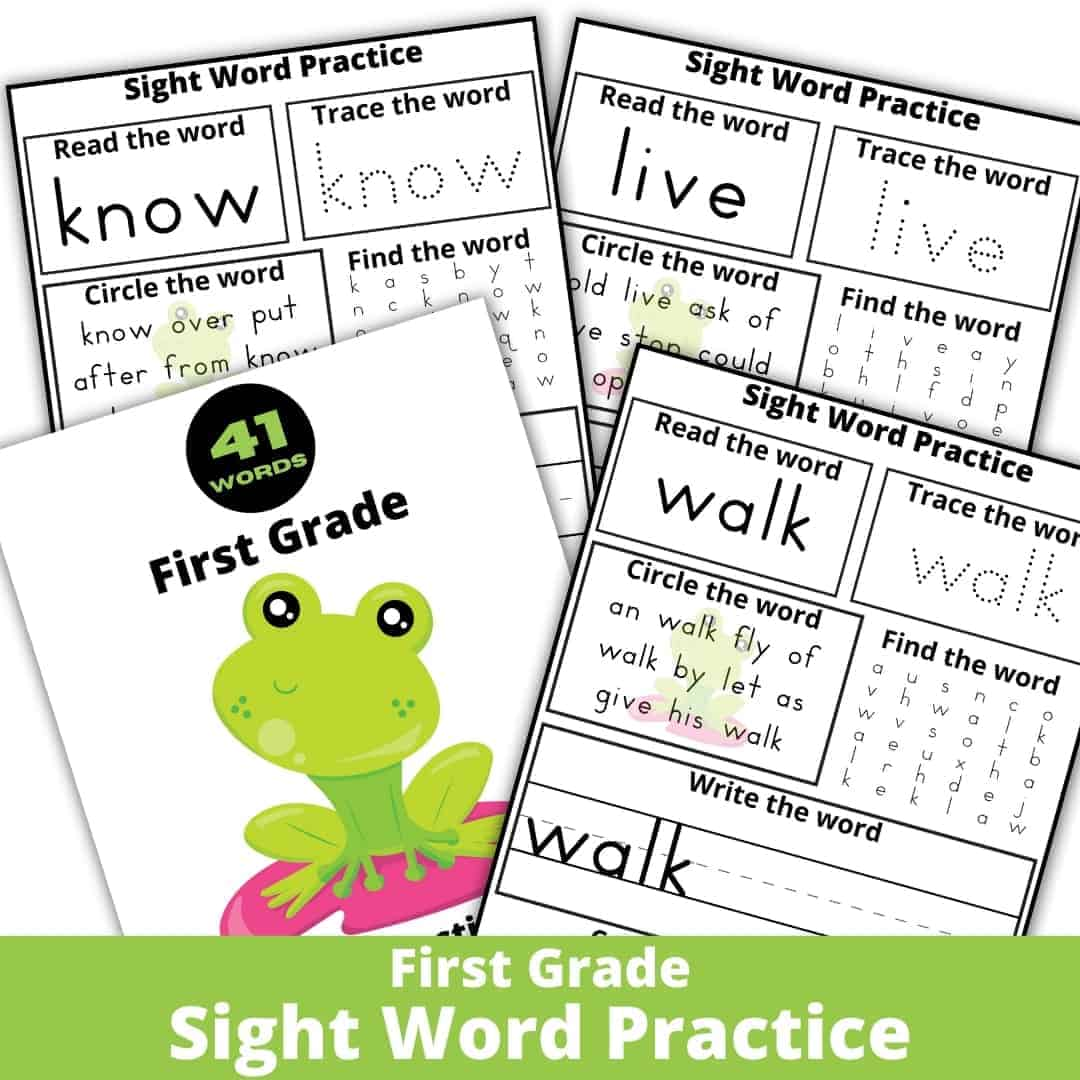 First Grade Sight Word Practice Worksheets