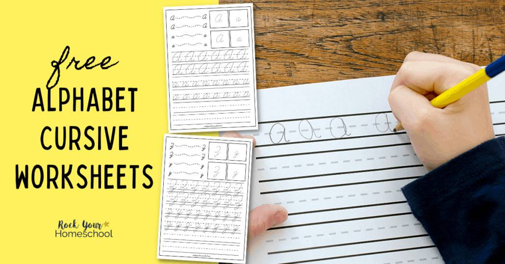 These 26 free Alphabet Cursive Worksheets are fantastic ways to give your kids extra handwriting practice. Find out why learning cursive writing is important and get this pack today!