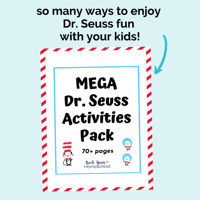 Grab this Mega Dr. Seuss Activities Pack to make it super easy & fun to enjoy Dr. Seuss fun with your kids.