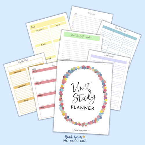 This Free Homeschool Unit Study Planner will help you get a simple and successful start to your homeschool unit studies.