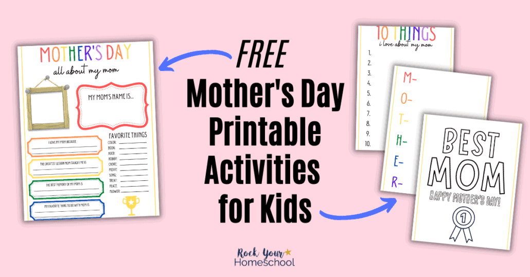 Help your kids show mom some love with these FREE Mother's Day printables. Awesome activities for all ages!