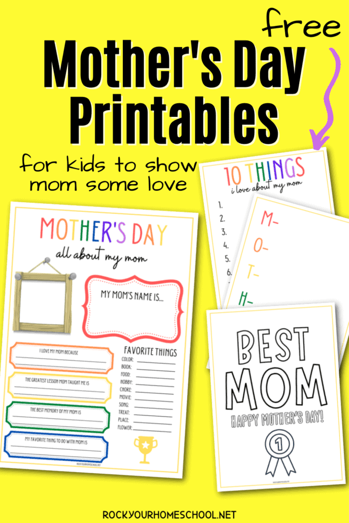 Free Mother's Day Printables for Kids to Show Mom Love