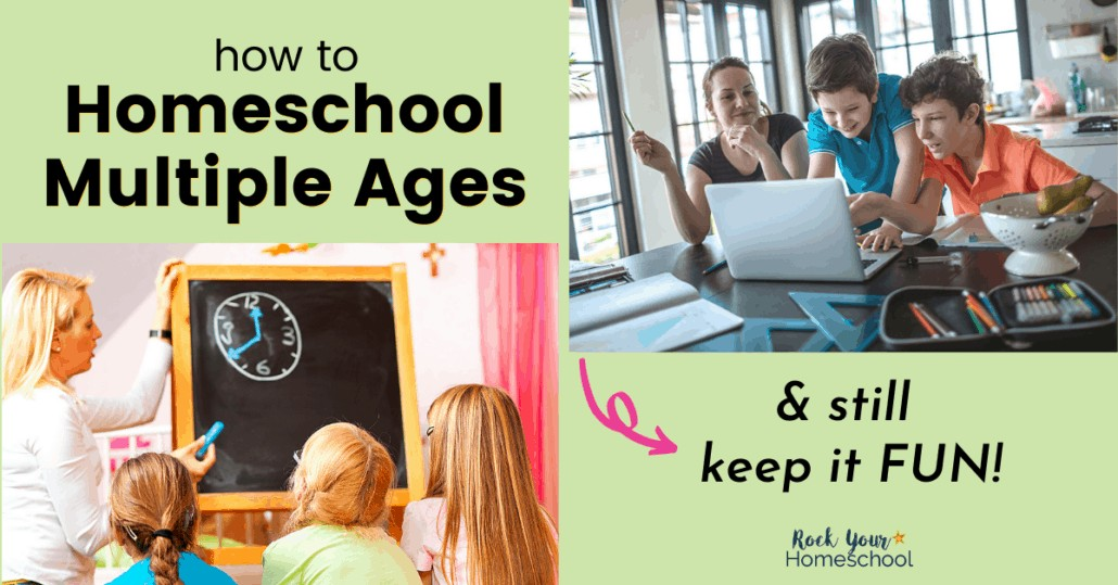 You can homeschool multiple ages & keep it fun. Check out these tips & tricks from a homeschool mom of 5 boys.