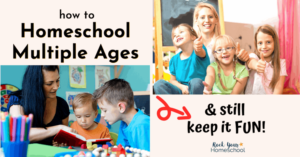 Homeschooling multiple ages & not sure how to make it work? Check out these tips & tricks from a homeschool mom of 5 boys.
