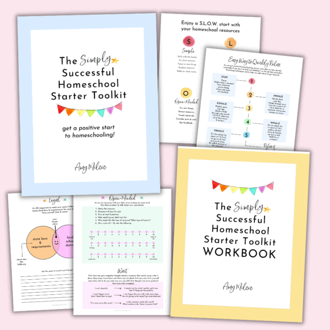 Get a positive start to your homeschooling adventures with The Simply Successful Homeschool Starter Toolkit and Workbook.