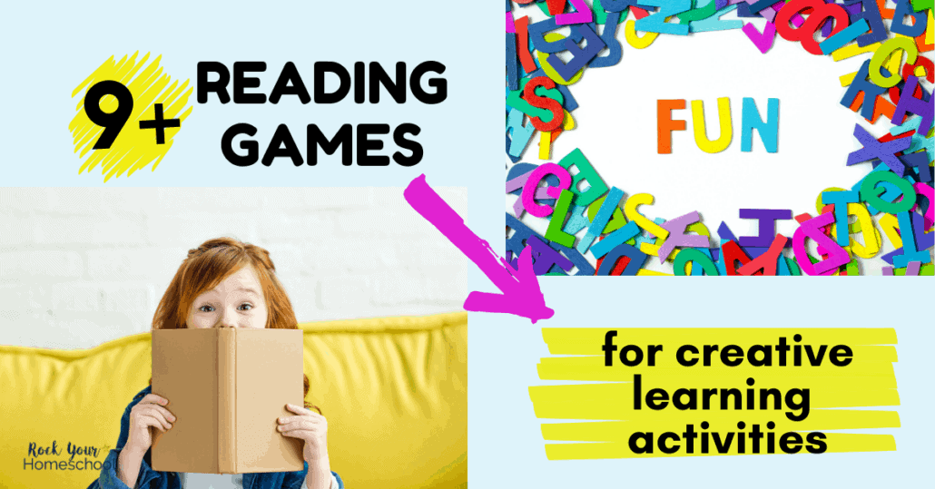 These 9+ fun reading games are amazing ways to enjoy creative learning activities with kids.
