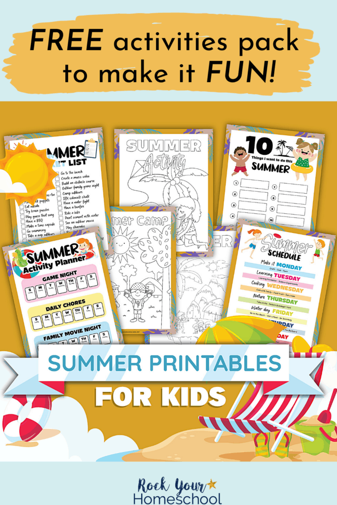 Fun summer activities for kids planner pack, coloring pages, and lists to feature how awesome it will be to work with your kids on preparing for and enjoying summer fun