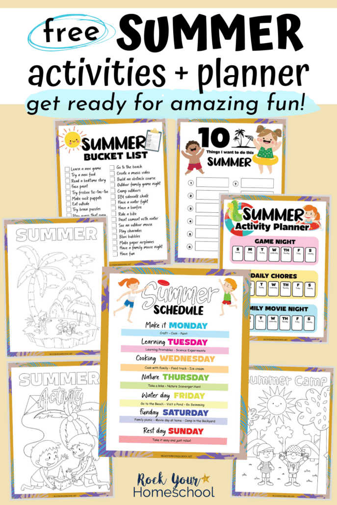 Free Fun Summer Activities for Kids Planner Pack to Make It Rock