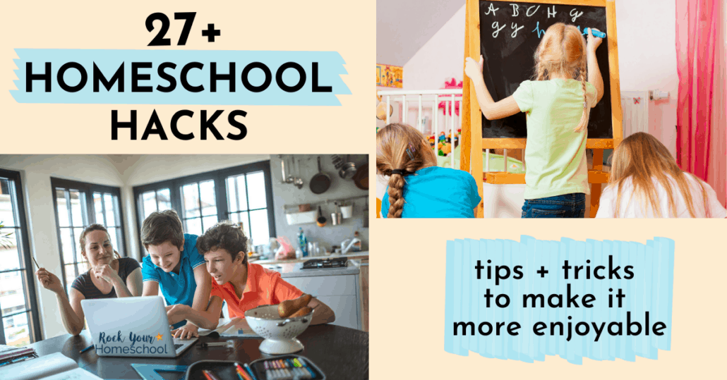 These 27+ homeschool hacks are easy ways to make it more enjoyable and successful. Fantastic tips and tricks to boost your homeschooling adventures!