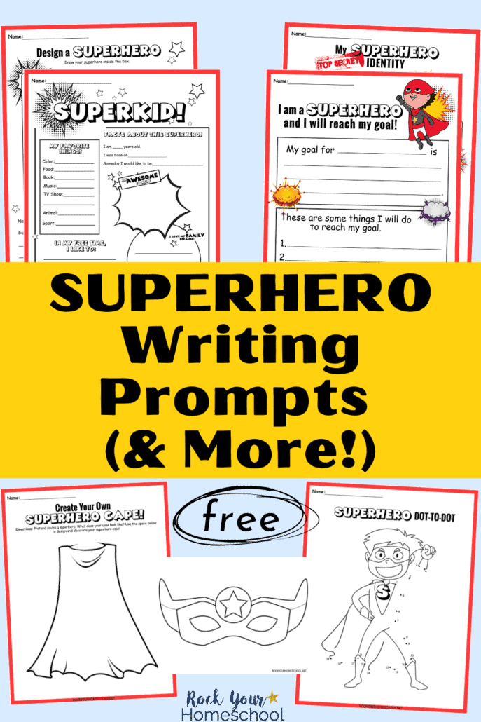 10 free superhero writing prompts and activities to feature how easily you can make creative writing fun with these 10 free superhero writing prompts and activities