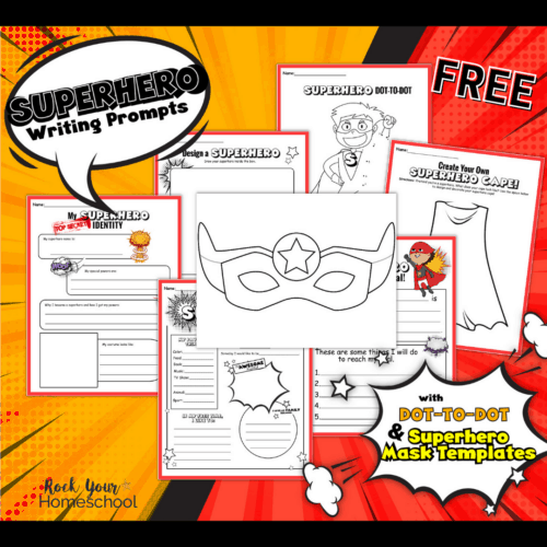 Get this free superhero writing prompts and activities pack for wonderful learning fun with your kids.