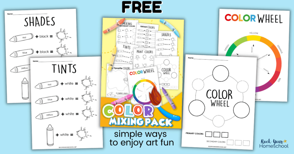 Enjoy fun & easy art time with your kids using these free coloring mixing activities.