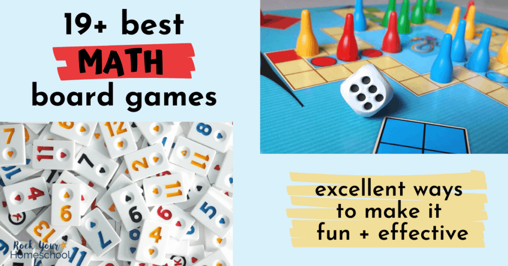 This list of 19 best math board games will help you easily boost learning at home. Fantastic ways to make it fun & effective for learning & practicing math facts & skills!