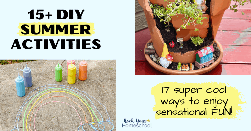 Easily enjoy fantastic fun with these 15+ DIY summer activities for kids.