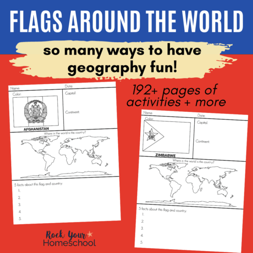 Get this Flags of the World Printable Worksheets pack for fantastic geography fun and more!